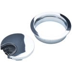 "2-Piece Polished Chrome Wire Grommet w/ ""Brush"" Opening"