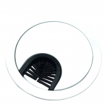 "2-Piece Wire Grommet w/ ""Brush"" Opening"