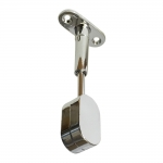 Polished Chrome Adjustable Oval Rod End Support