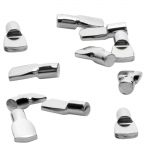 "1/4"" Polished Nickel Spoon Shelf Support Pegs - 25 Pack"