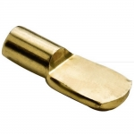 5mm Polished Brass Spoon Shelf Support Pegs