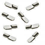 5mm Polished Nickel Spoon Shelf Support Pegs - 25 Pack