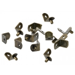 """5mm Antique Brass """"Bracket"""" With Hole Shelf Support Pegs - 25 Pack"""