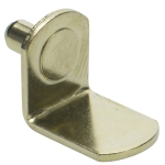 "5mm Polished Brass ""Bracket"" Shelf Support Pegs"