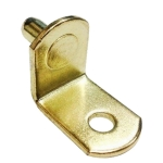 "5mm Polished Brass ""Bracket"" With Hole Shelf Support Pegs"