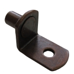 """5mm Bronze """"Bracket"""" With Hole Shelf Support Pegs - 25 Pack"""