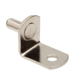 """5mm Polished Nickel """"Bracket"""" With Hole Shelf Support Pegs - 25 Pack"""