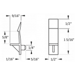 """1/4"""" Self-Locking Cabinet Shelf Support Pegs for 5/8"""" Thick Shelves - White - 25 Pack"""